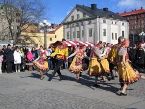 Maslenitsafirande på Medborgarplatsen i Stockholm häromåret