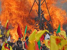 Newrozfirande i Diyarbakir
