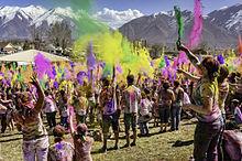 Holi firas av indier i hela världen, här i USA. Foto från Wikipedia