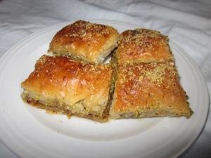 Baklava med pistagenötter Foto Rojin/Kurdmat