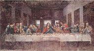 Nattvarden målad av Leonardo da Vinci