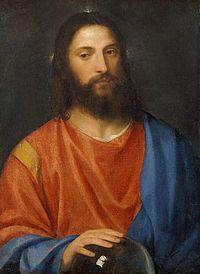 Jesus målad av Titian