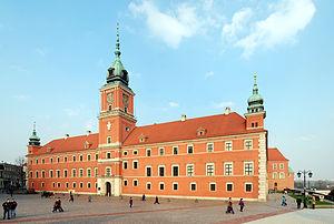 Slottet i Warszawa. Bild från Wikipedia
