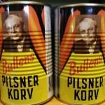 Bullens Pilsnerkorv i gammal välkänd förpackning Foto: Lena Ahlström