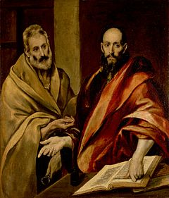 Petrus och Paulus målade av El Greco