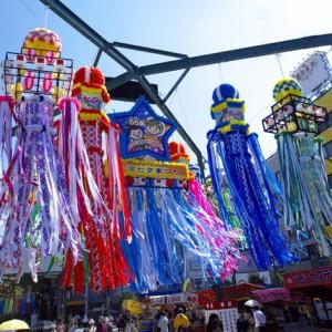 Tanabata, serpentiner i vinden