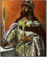 Mieszko I av Polen teckning av Jan Mateiko från Wikipedia