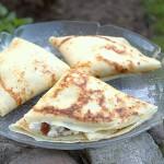 Polska pannkakor med kvark och russin