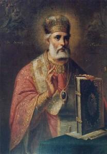 Biskop Nikolaus målad av Gheorghe Tattares