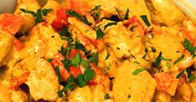 Kycklinggryta med curry och kokosmjölk från Sri Lanka