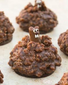 Groundhog cookies från sheknows.com - med extra pyssel blir de så här fina