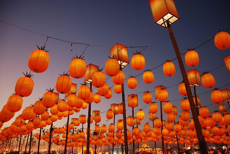 Lyktfestival i Taiwan. Foto: Ting W. Chang