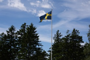 Svenska flaggan i topp. Foto: Caroline Maino