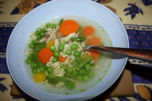 Grönsakssoppa med pastabokstäver på läskunnighetens dag. Foto: Caroline Maino