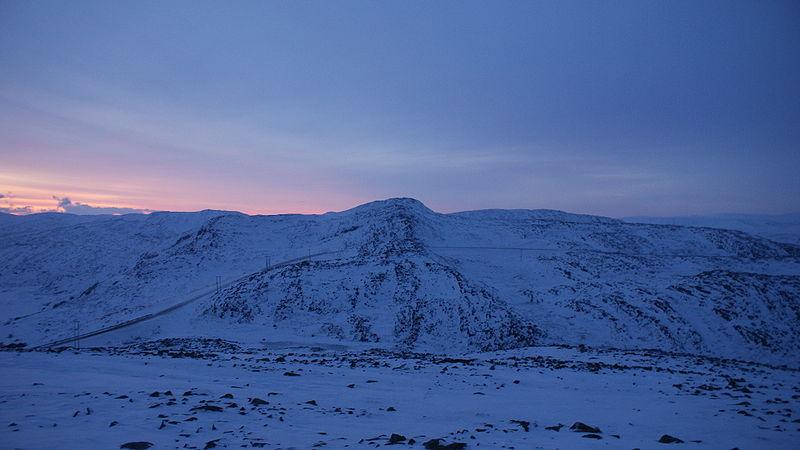 Polarnatt i Nordkinnhalvøya, det europeiska fastlandets nordligaste halvö. Foto: Algkalv