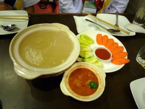 Ambuyat, en lokal delikatess i Brunei.