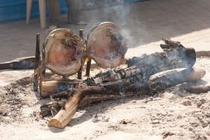Iraks nationalrätt grillas. Foto: engelska Al Jazeera