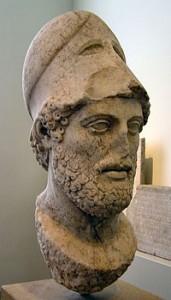 Perikles, en av demokratins fäder. Foto från Wikipedia