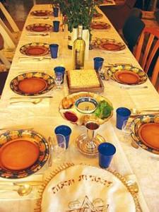 Bord dukat för Sedermåltiden