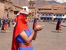 Inti Raymi-firare i Cuzco Foto från Wikipedia