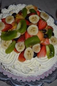 Gräddtårta med frukt