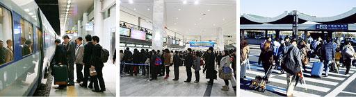 Ungefär 75% av koreanerna reser under Chuseok. Bilderna är lånade från Koreanska Ambassaden