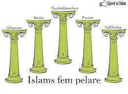 Islams fem pelare Bild från islamiskafors.com