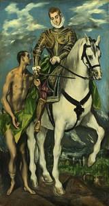 S:t Martin och tiggaren Målning av El Greco
