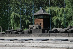 Det internationella monumentet vid Auschwitz-Birkenau. Foto från Auschwitz-Birkenau Memorial and Museum