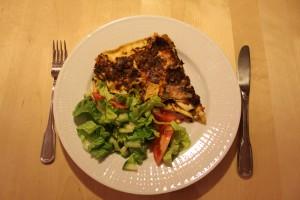 Lasagne med haloumi och pumpakärnor Foto: Lena Ahlström