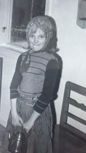 Artikelförfattaren själv i åttaårsåldern.