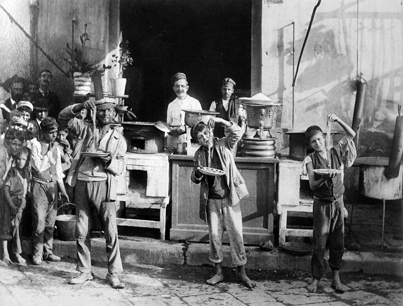 Pastatillverkare i Neapel 1875
