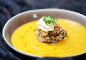 Asiatisk soppa med bönragu. Foto: Gröna kassen