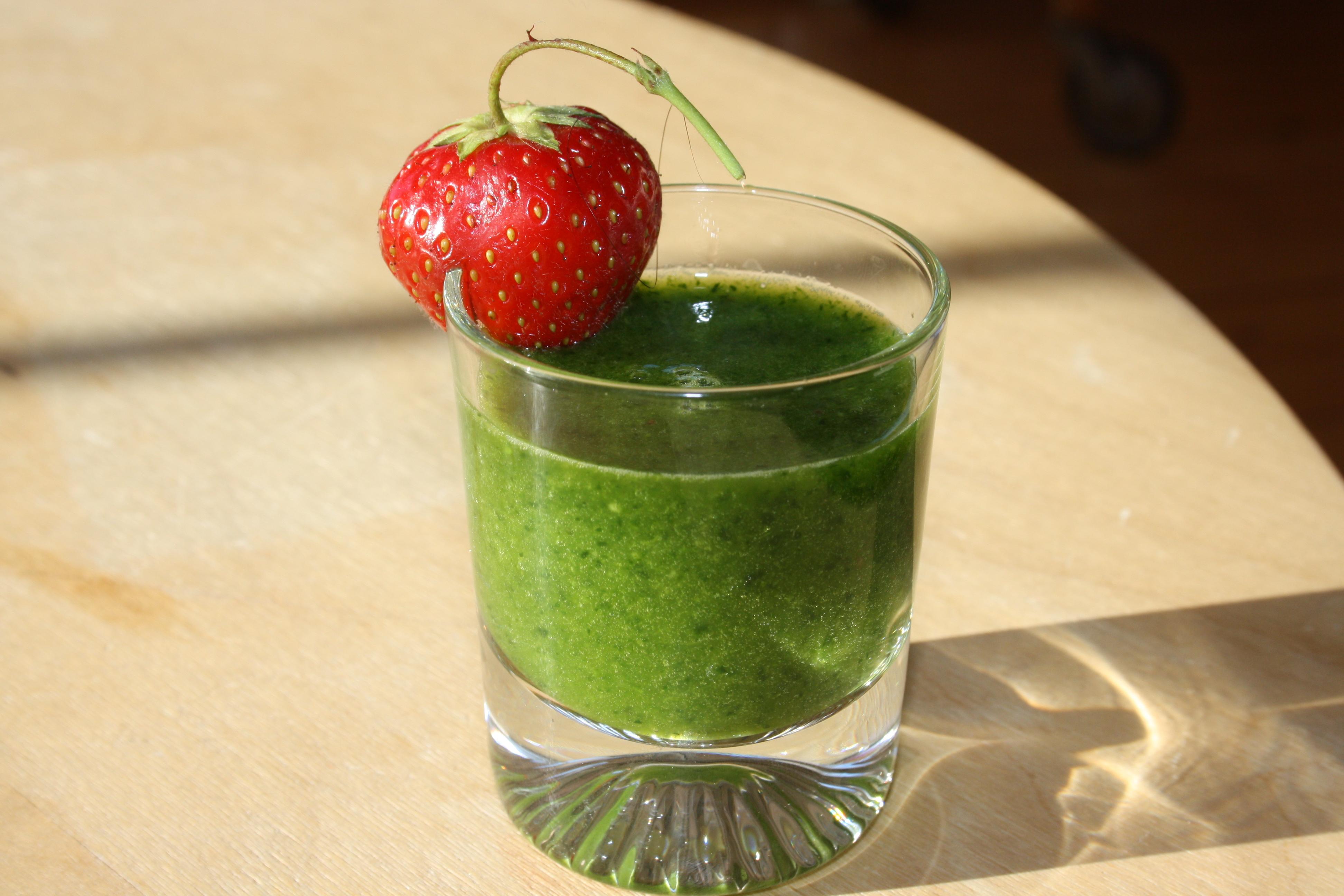 grön juice spenat